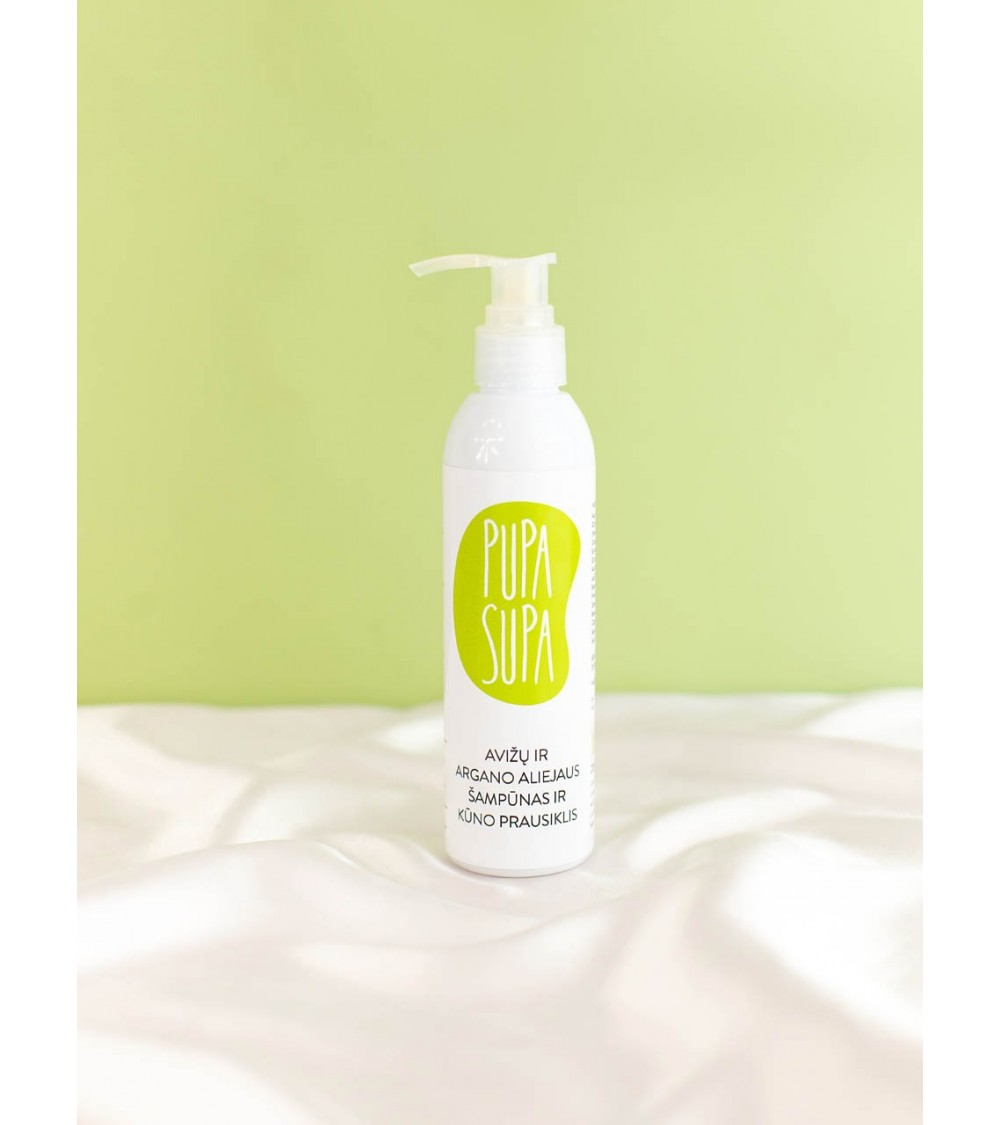 Avižų ir argano aliejaus natūralus šampūnas ir kūno prausiklis